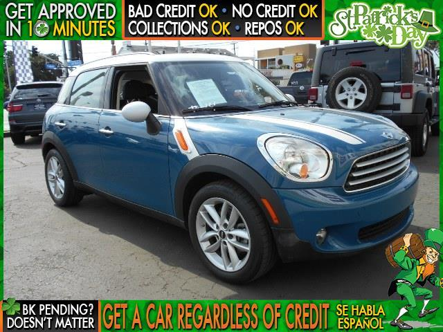 2012 MINI COOPER COUNTRYMAN BASE 4DR CROSSOVER blue  welcome take a test drive or call us if y