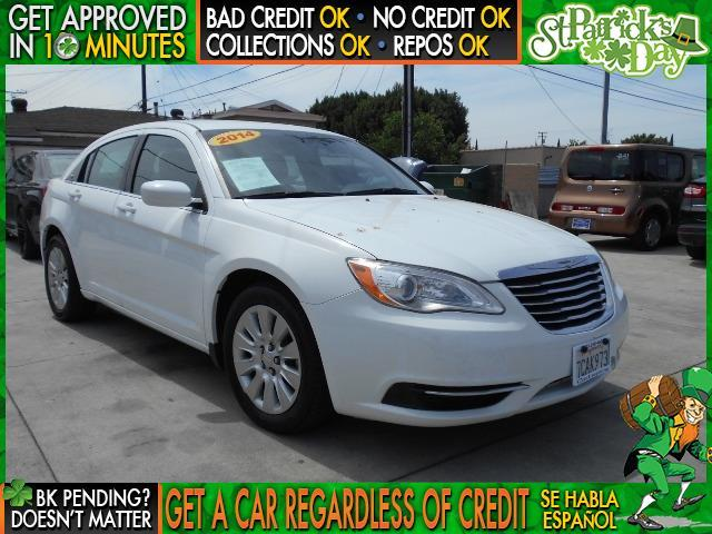 2014 CHRYSLER 200 LX 4DR SEDAN white  welcome take a test drive or call us if you have any que