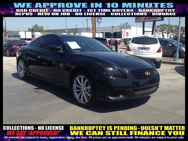 2009 INFINITI G37 COUPE black  welcome take a test drive or call us if you have any questions