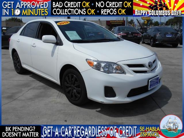 2012 TOYOTA COROLLA LE 4DR SEDAN 4A white welcome take a test drive or call us if you have an