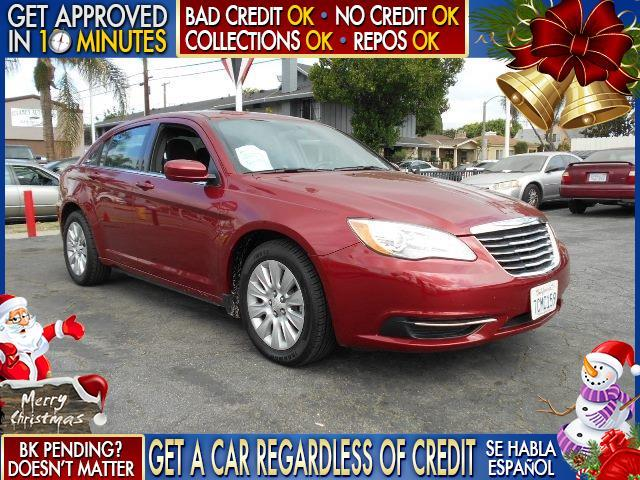 2014 CHRYSLER 200 LX 4DR SEDAN red  welcome take a test drive or call us if you have any quest