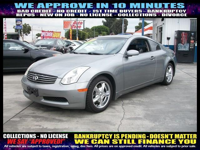 2007 INFINITI G35 BASE 2DR COUPE 35L V6 5A silver welcome take a test drive or call us if yo