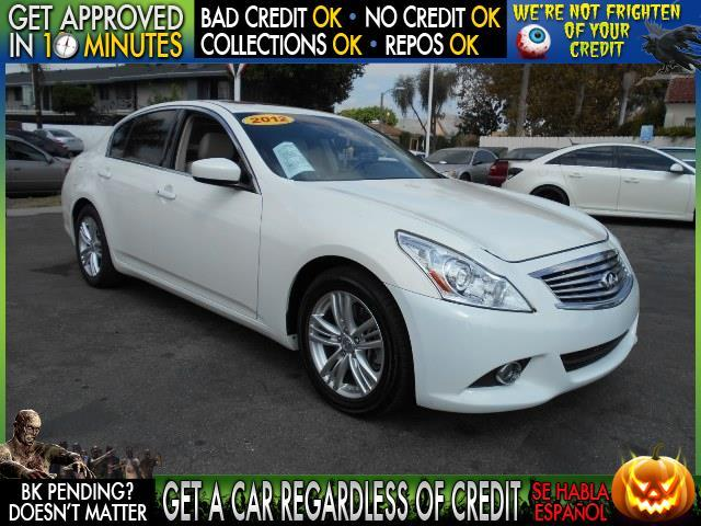2012 INFINITI G37 SEDAN white  welcome take a test drive or call us if you have any questions