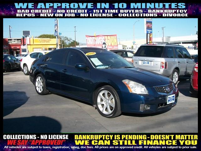 2008 NISSAN MAXIMA blue  welcome take a test drive or call us if you have any questions you