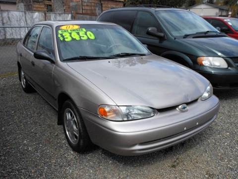 2002 Chevrolet Prizm for sale in Tacoma, WA