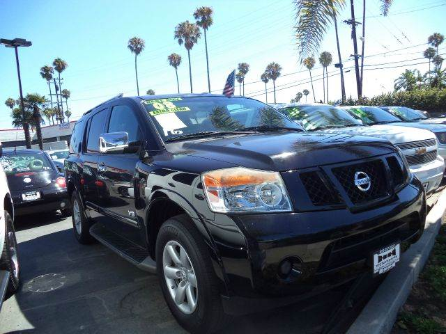 2008 NISSAN ARMADA LE 4X2 WAGON SUV black 2-wheel limited slip abs - 4-wheel adjustable pedals
