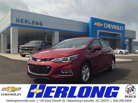 2017 Chevrolet Cruze for sale in Johnston SC