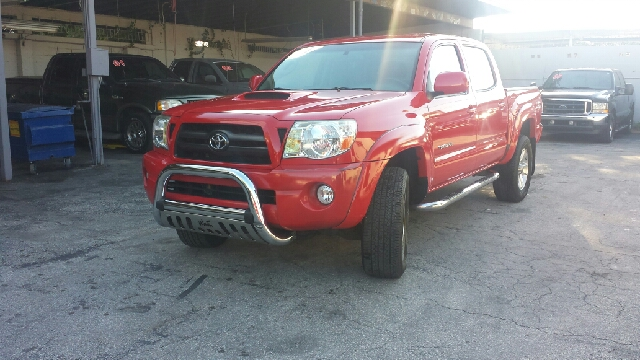 2007 TOYOTA TACOMA PRERUNNER V6 4DR DOUBLE CAB 50 red clean title ac colds runs great  tag tax