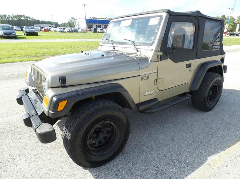 2002 JEEP WRANGLER X 4WD 2DR SUV beige clean title