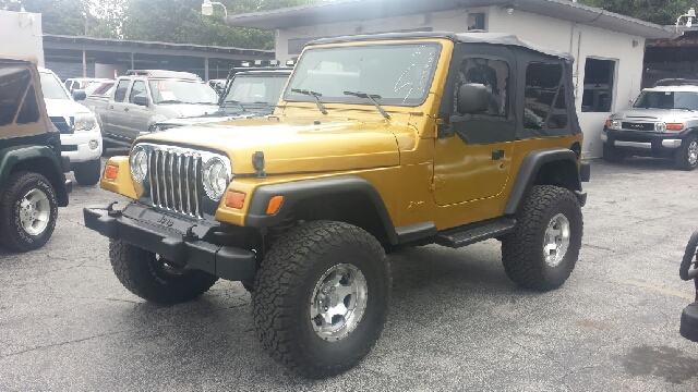 2003 JEEP WRANGLER SPORT 2DR 4WD SUV gold clean title