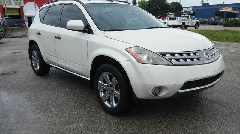 2007 NISSAN MURANO SL AWD 4DR SUV white 2-stage unlocking - remote 4wd type - on demand abs - 4