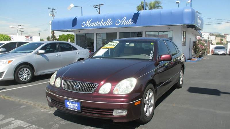 2002 LEXUS GS 300 BASE 4DR SEDAN maroon abs - 4-wheel anti-theft system - alarm cassette cente