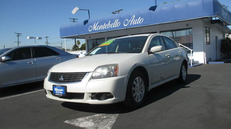 2009 MITSUBISHI GALANT ES 4DR SEDAN white 2-stage unlocking abs - 4-wheel airbag deactivation -
