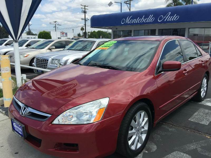 2007 HONDA ACCORD EX-L V-6 4DR SEDAN 3V5A red 2-stage unlocking - remote abs - 4-wheel air fi