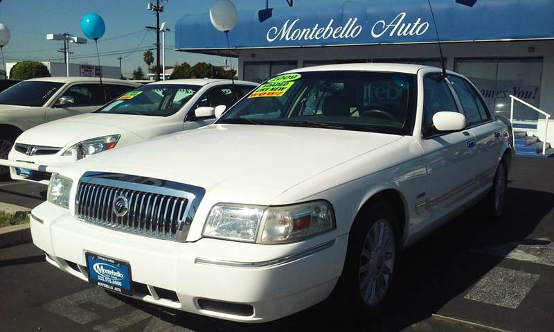 2009 MERCURY GRAND MARQUIS LS SEDAN LUXURY 4DR white abs - 4-wheel air suspension - rear airbag