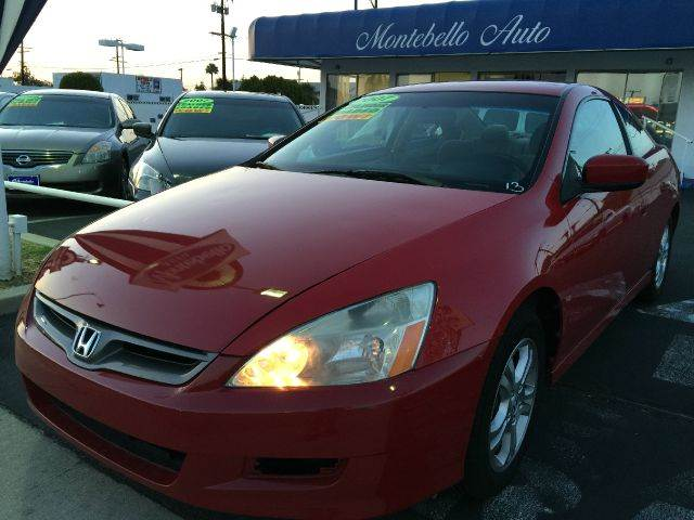 2007 HONDA ACCORD LX 2DR COUPE red cash price  plus aplicable  fees 2-stage unlocking - remote a