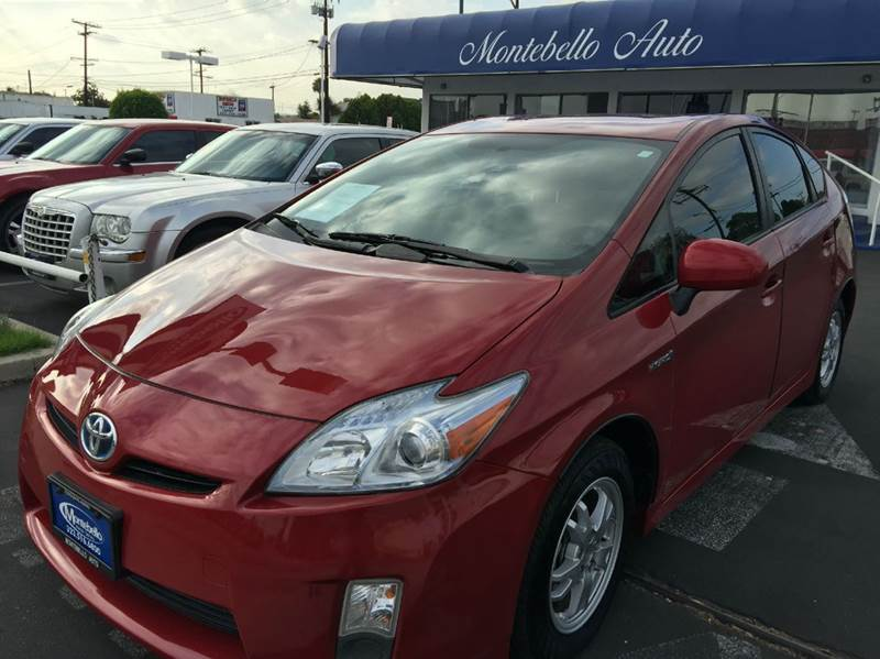 2010 TOYOTA PRIUS II 4DR HATCHBACK red cash price  plus aplicable  fees abs - 4-wheel active hea