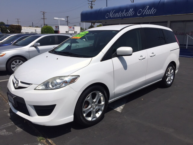 2010 MAZDA MAZDA5 SPORT 4DR MINI VAN 5A white 2-stage unlocking doors abs - 4-wheel air filtrat
