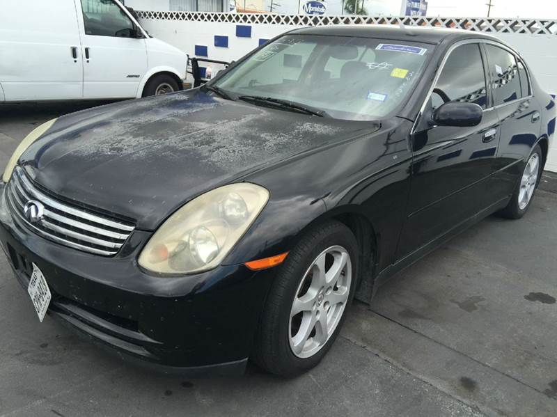 2004 INFINITI G35 BASE RWD 4DR SEDAN WLEATHER black cash price plus applicable fees  abs - 4-whe