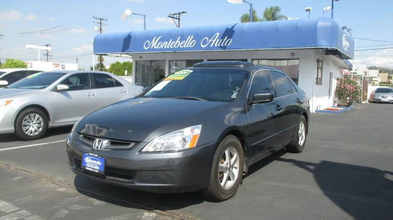 2004 HONDA ACCORD EX WLEATHER 4DR SEDAN WLEATHER gray abs - 4-wheel anti-theft system - alarm