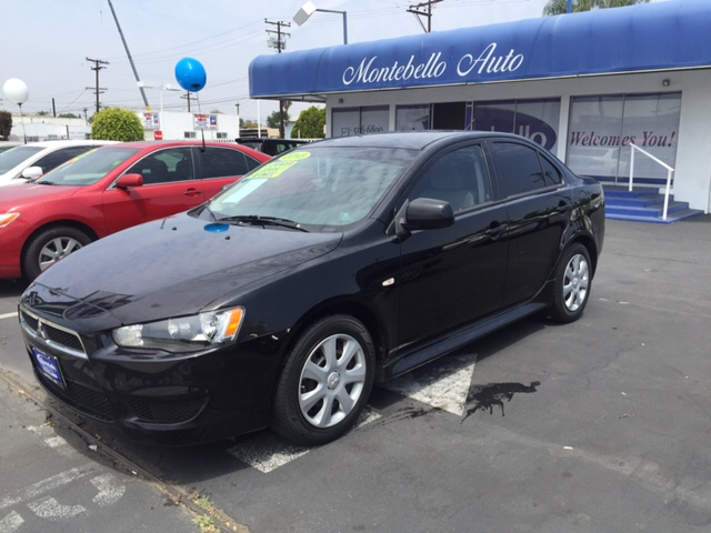 2013 MITSUBISHI LANCER ES 4DR SEDAN CVT black 2-stage unlocking doors abs - 4-wheel active head