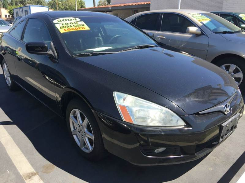 2004 HONDA ACCORD EX V-6 2DR COUPE black cash price plus aplicable fees abs - 4-wheel anti-theft