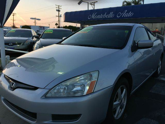2003 HONDA ACCORD EX WLEATHER 2DR COUPE silver cash price  plus aplicable  fees abs - 4-wheel a