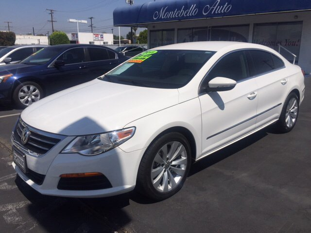 2011 VOLKSWAGEN CC SPORT PZEV 4DR SEDAN 6A white abs - 4-wheel active head restraints - dual fro