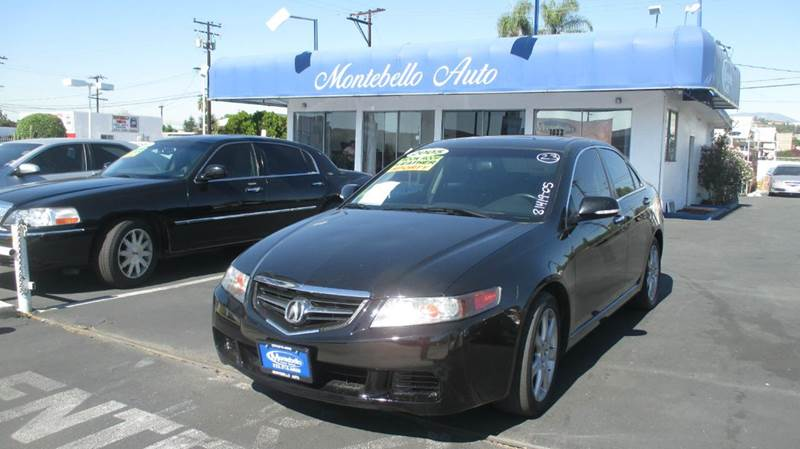 2005 ACURA TSX BASE 4DR SEDAN black abs - 4-wheel anti-theft system - alarm cd changer center