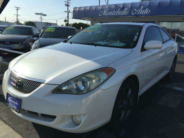 2004 TOYOTA CAMRY SOLARA SLE V6 2DR COUPE white cash price  plus aplicable  fees abs - 4-wheel a