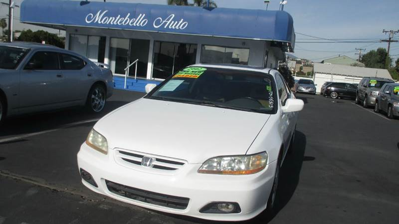 2002 HONDA ACCORD EX V-6 2DR COUPE white abs - 4-wheel anti-theft system - alarm cassette cd c