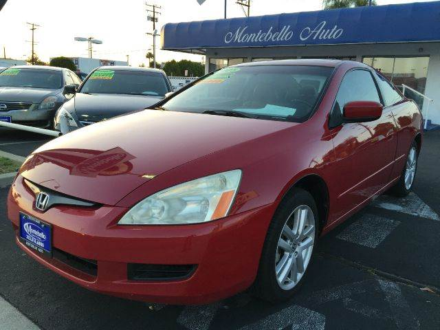 2005 HONDA ACCORD EX V-6 2DR COUPE red cash price  plus aplicable  fees abs - 4-wheel anti-theft