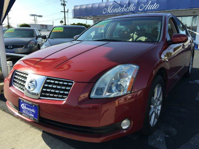 2006 NISSAN MAXIMA 35 SL 4DR SEDAN 35L V6 5A red cash price  plus aplicable  fees abs - 4-whe