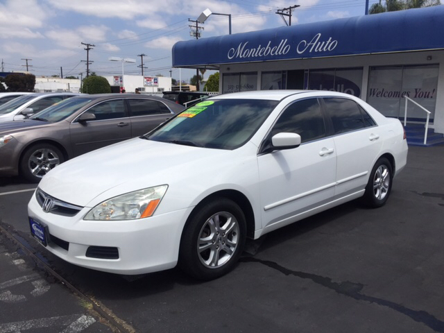 2006 HONDA ACCORD LX SPECIAL EDITION 4DR SEDAN 5A white abs - 4-wheel air filtration airbag dea