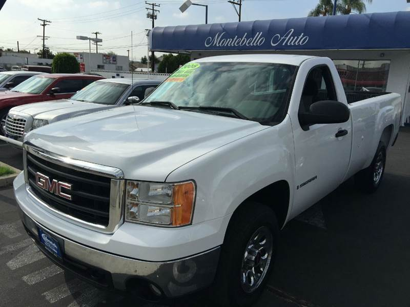 2008 GMC SIERRA 1500 WORK TRUCK 2WD 2DR REGULAR CAB 8 white cash price  plus aplicable  fees abs