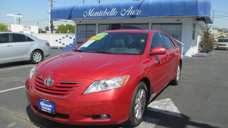2008 TOYOTA CAMRY XLE 4DR SEDAN 5A red 2-stage unlocking doors abs - 4-wheel air filtration ai