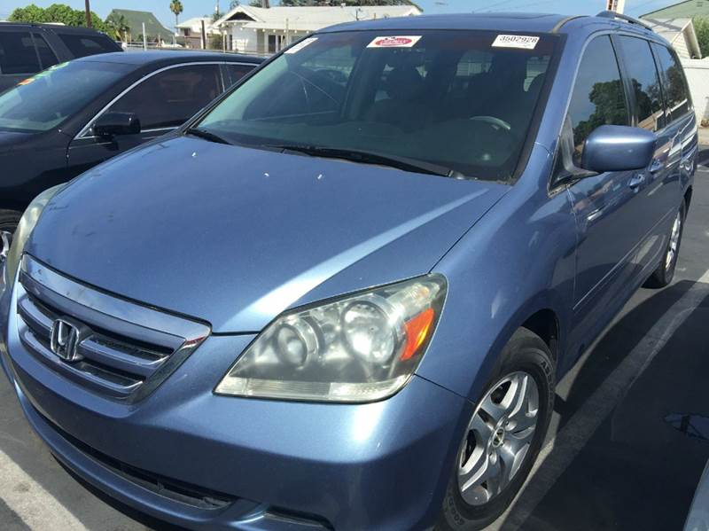 2005 HONDA ODYSSEY EX-L WDVD 4DR MINI VAN AND LEAT celest blue abs - 4-wheel anti-theft system