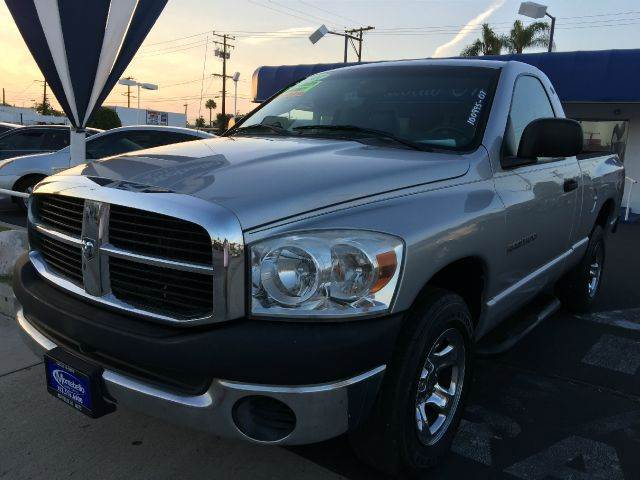 2007 DODGE RAM PICKUP 1500 ST 2DR REGULAR CAB SB silver cash price  plus aplicable  fees abs - re