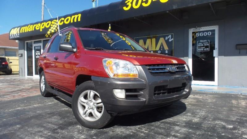 2006 KIA SPORTAGE 4DR LX V6 AUTO red wwwmiareposcom low downpayment and we will get you driving