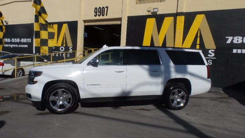 2017 CHEVROLET SUBURBAN LT 1500 4X4 4DR SUV white well maintained very clean interior one owner