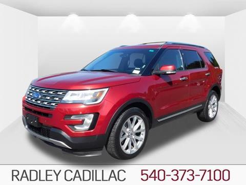 2016 Ford Explorer for sale in Fredericksburg VA