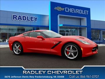 2014 chevrolet corvette for sale fredericksburg va. Black Bedroom Furniture Sets. Home Design Ideas