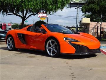 2016 McLaren 650S Spider for sale in Dallas, TX