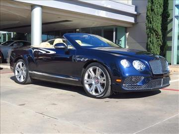 2016 Bentley Continental GTC V8 for sale in Dallas, TX