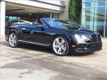 2016 Bentley Continental GTC V8 S for sale in Dallas, TX