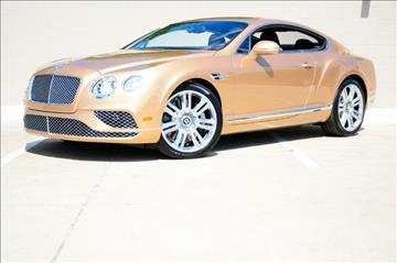 2016 Bentley Continental GT for sale in Dallas, TX