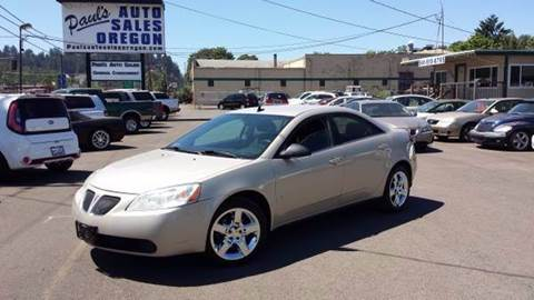 2009 Pontiac G6 for sale in Eugene, OR