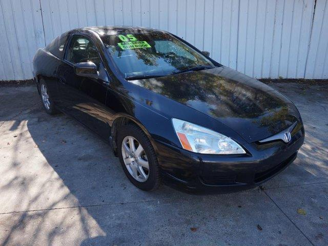 2005 HONDA ACCORD EX V-6 2DR COUPE black front head air bagamfm stereocd playerrear defrostk