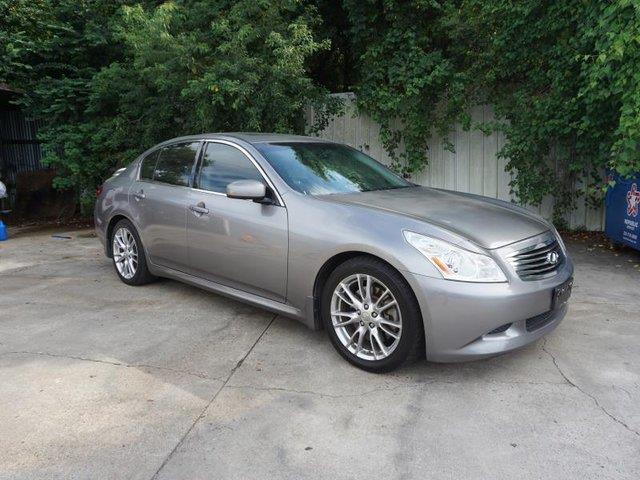 2008 INFINITI G35 RWD silver traction controlfog lampspower passenger mirrorsteering wheel aud