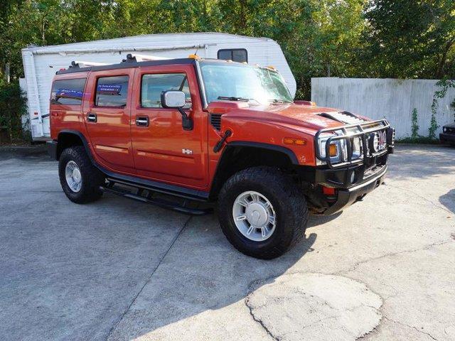 2003 HUMMER H2 sunset orange metallic power folding mirrorsuniversal garage door openertow hitc